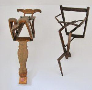 Holz, Skulptur, Alltagsgegenstand Stuhl