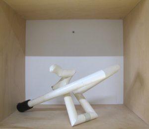 Skulptur, Holz, weiß, Betz, Akademie München