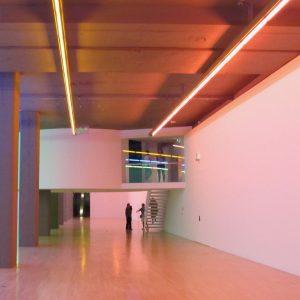 Kunstbau München Dan Flavin Lenbachhaus Lichtskulptur